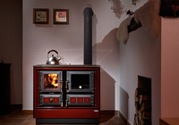 Wood burning range cooker